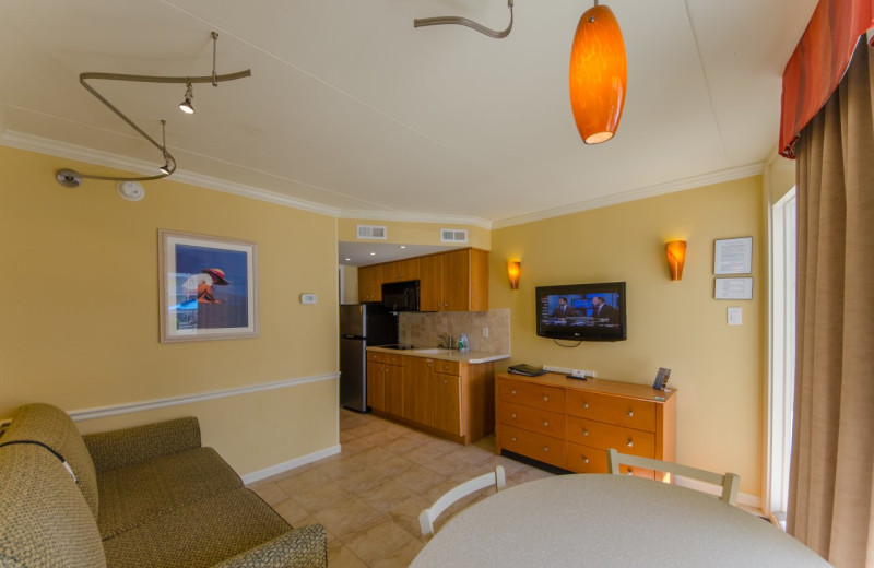 Guest living area at Fleur De Lis Beach Resort.