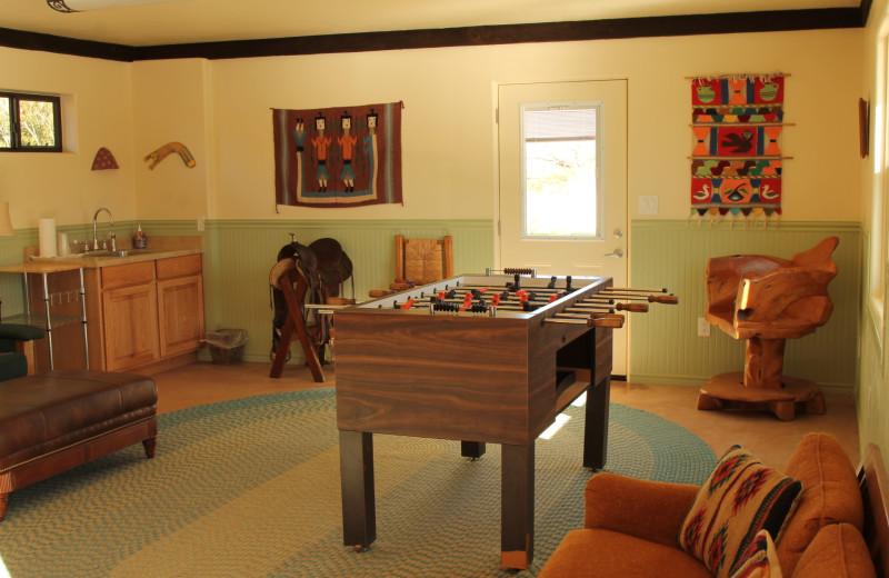 Game room at Circle Z Ranch.