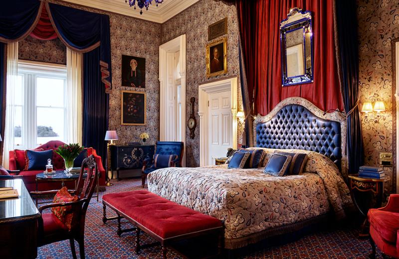 Guest room at Ashford Castle.