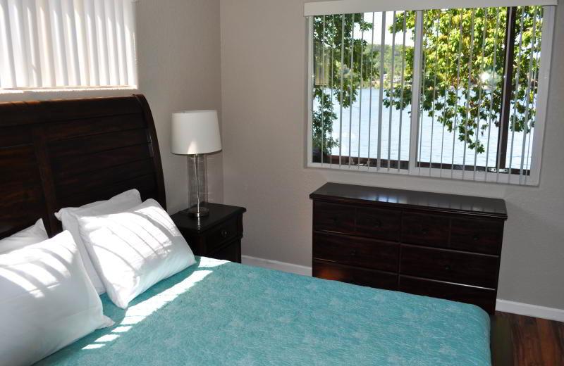 Guest room at Lake Breeze Resort.