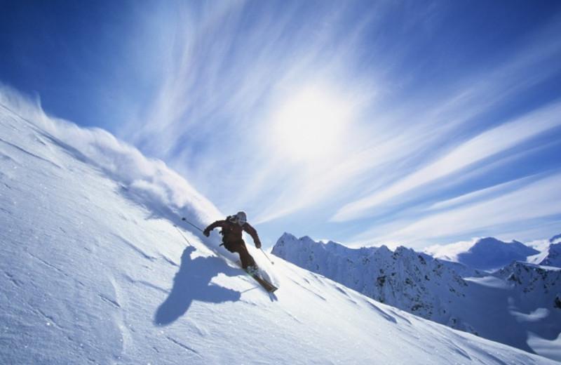 Skiing near Black Swan Inn.