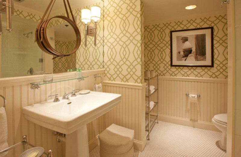 Guest bathroom at Ocean Edge Resort & Golf Club.