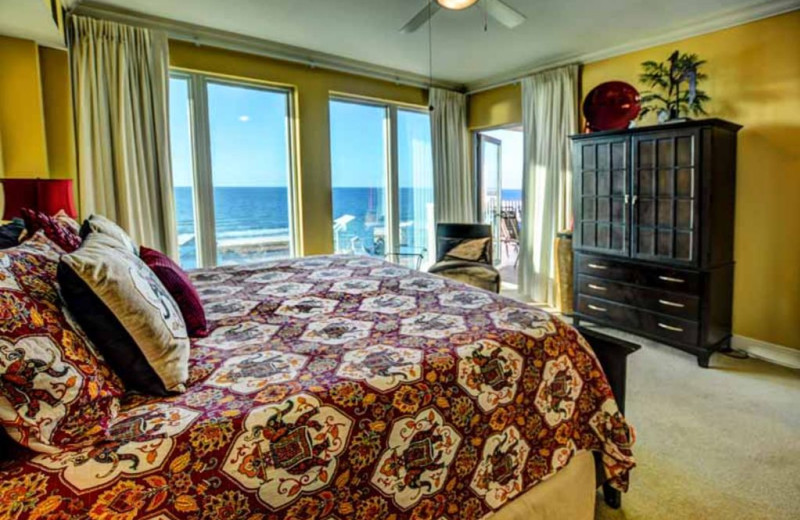 Rental bedroom at Luna Beach Properties.