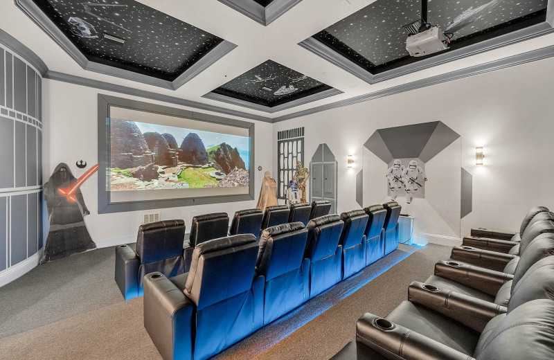 Rental theater at Reunion Vacation Homes.