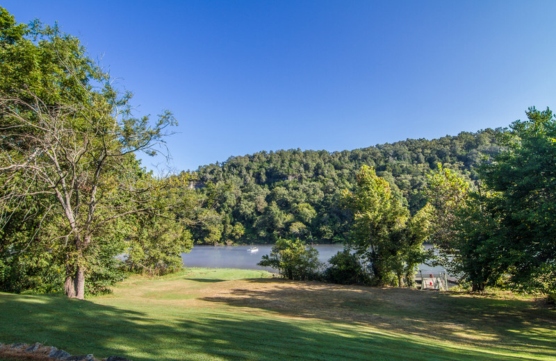 Grounds at Fulton's Lodge on the White River.