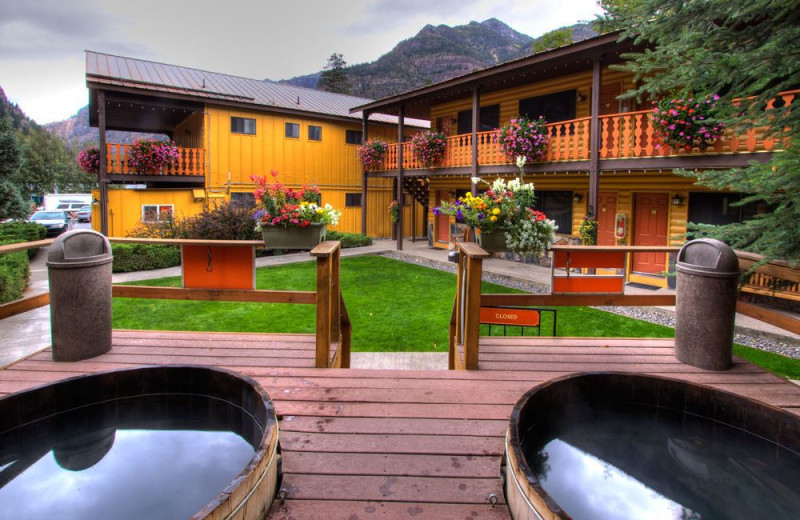 Hot tub at Box Canyon Lodge & Hot Springs.