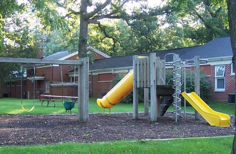 Kid's playground at Heidel House Resort.