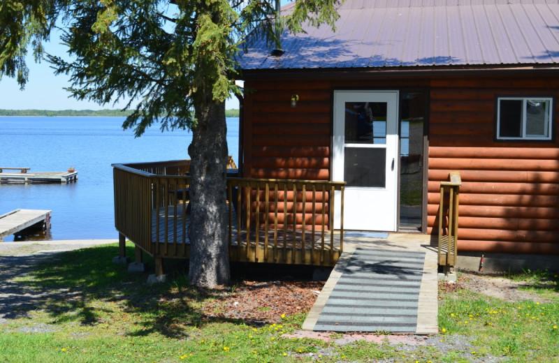 Cabin exterior at Pine Tree Cove Resort.