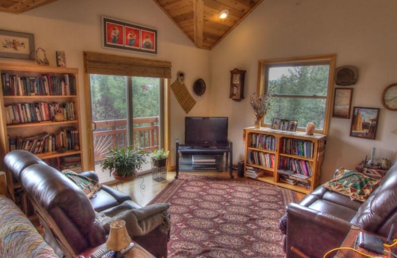 Vacation rental living room at SkyRun Vacation Rentals - Nederland, Colorado.
