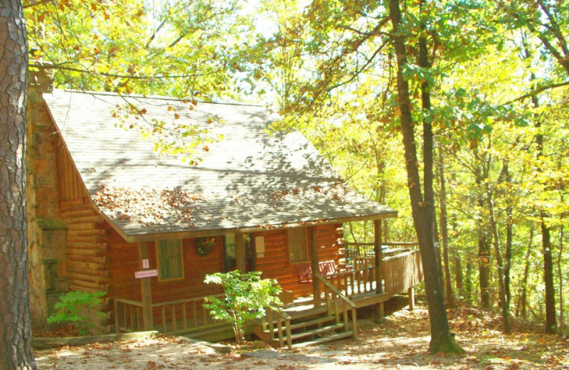 Cabin Exterior at Red Bud Valley Resort
