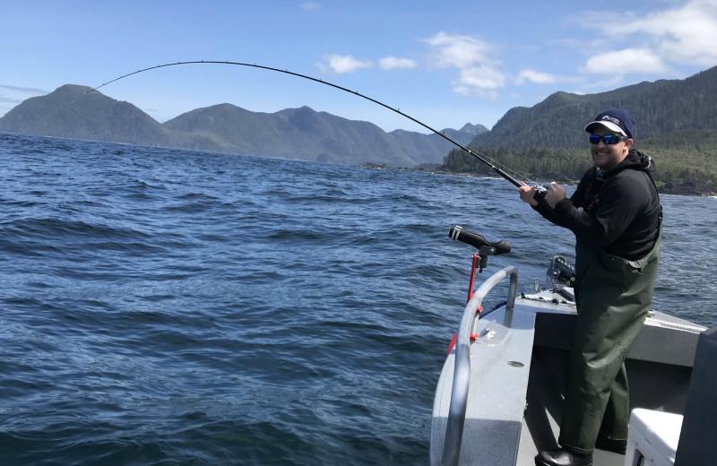 Fishing at Screamin' Reels Lodge.