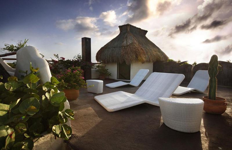 Relaxing at Hotel Las Palapas.