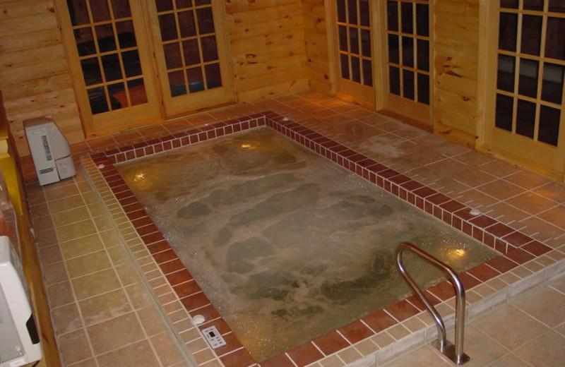 Hot tub at The Pines Inn of Lake Placid.