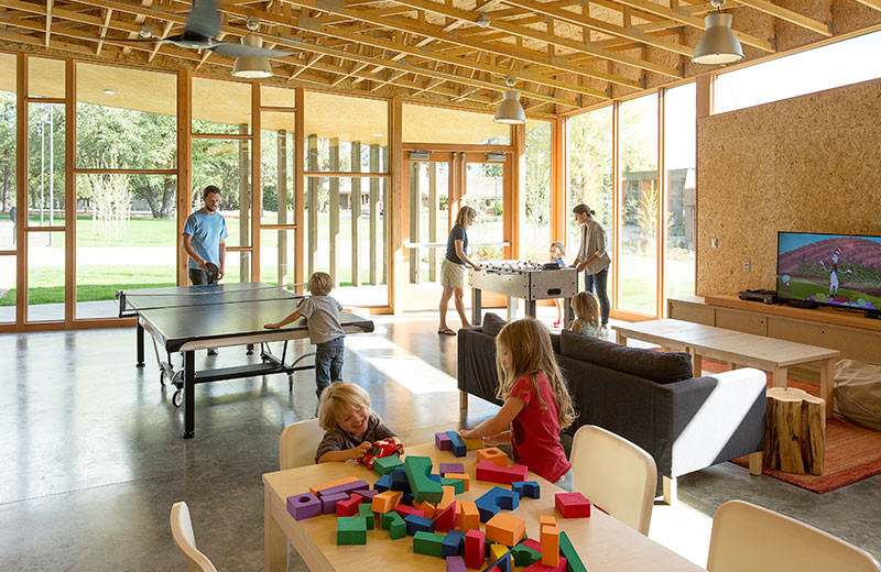 Recreation room at Black Butte Ranch.