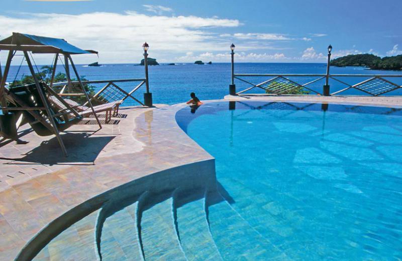 Outdoor pool at Hacienda del Mar Private Island Resort, Panama.