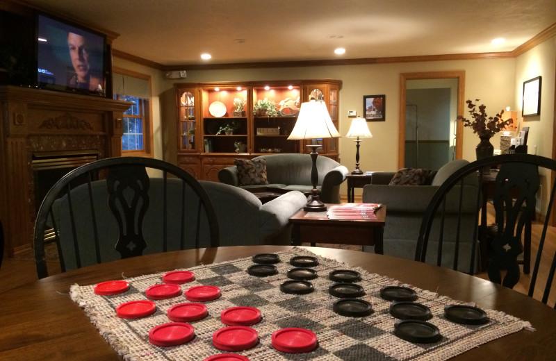 Checkers at High Point Inn.