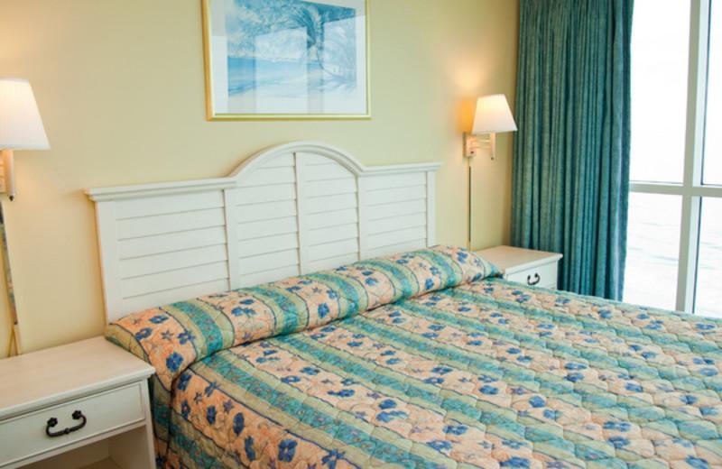 Guest bedroom at Avista Resort.
