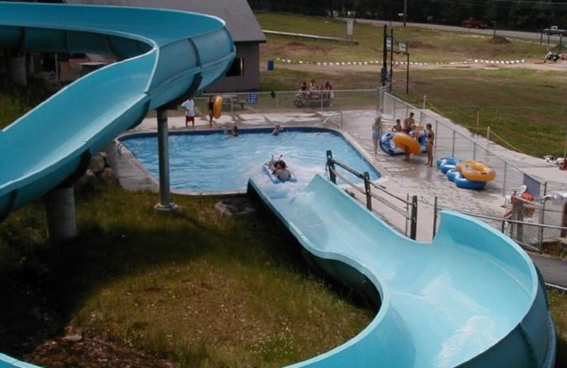 Water slide at Attitash Mountain Village.