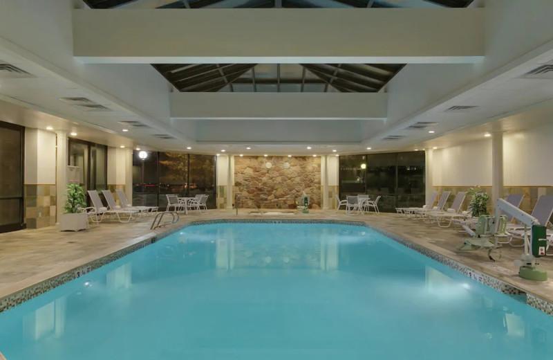 Indoor pool at Hilton Woodcliff Lake.