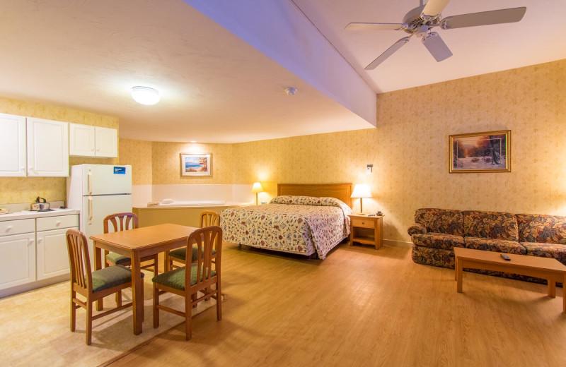 Guest room at Attitash Marketplace Motel.