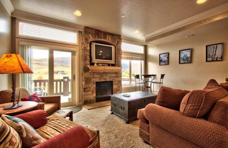 Rental living room at Lakeside Resort Properties.