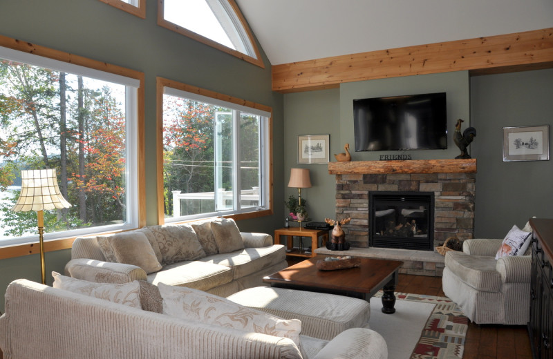 Rental living room at Cottage Vacations.
