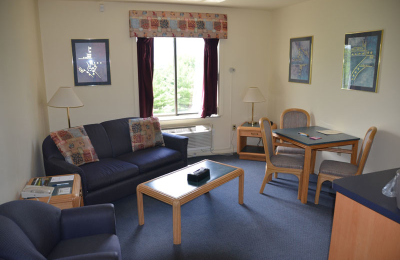 Guest living room at Devils Head Resort