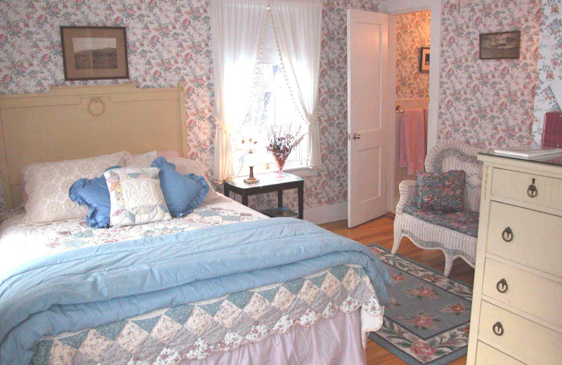 Captain's Room at Farm by the River Bed & Breakfast with stables-corner queen room with private bath and TV.