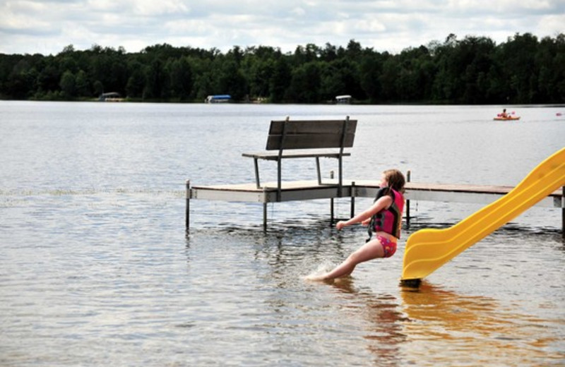 Water activities at Agate Lake Resort.