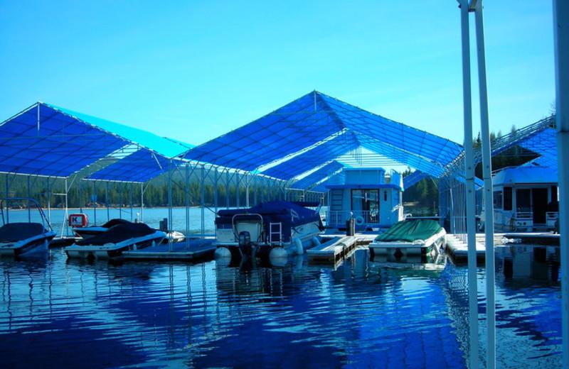 Boat dock at Blue Diamond Marina.