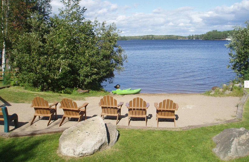 Beach seating at Timber Trail Lodge & Resort.