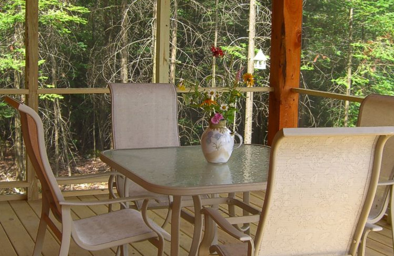 Cabin Porch at Robert Frost Mountain Cabins
