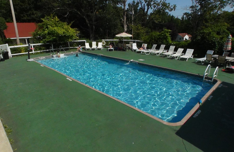 Outdoor pool at Winter Clove Inn.