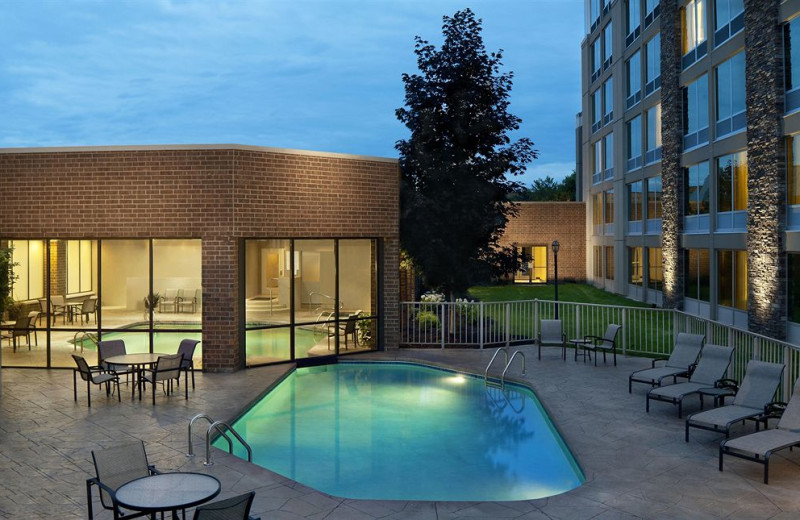 Outdoor pool at Sheraton Ann Arbor Hotel.