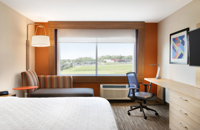 Guest room at Holiday Inn Express & Suites Madison.