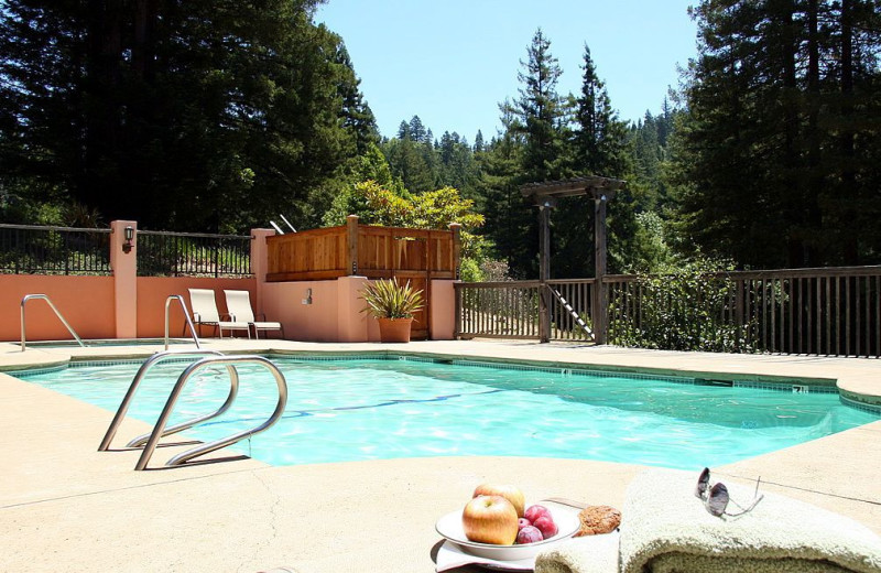 Outdoor pool at Applewood Inn, Restaurant and Spa.