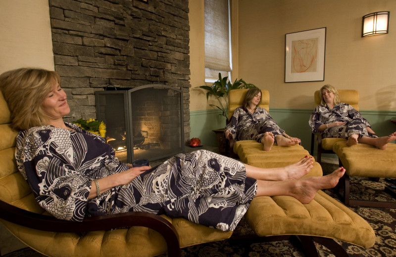 Relaxing at the spa at La Tourelle Resort & Spa.