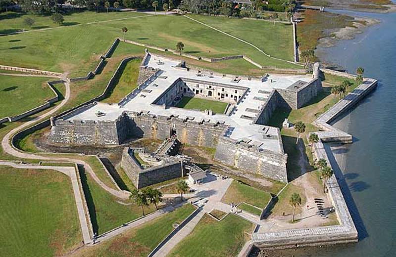 Castillo de San Marcos near St. Augustine Ocean & Racquet Resort.