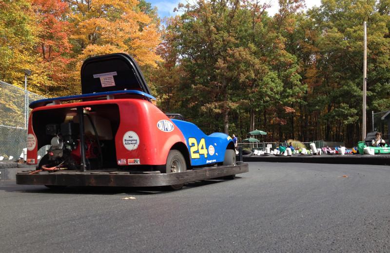 Go-kart at Woodloch Resort.