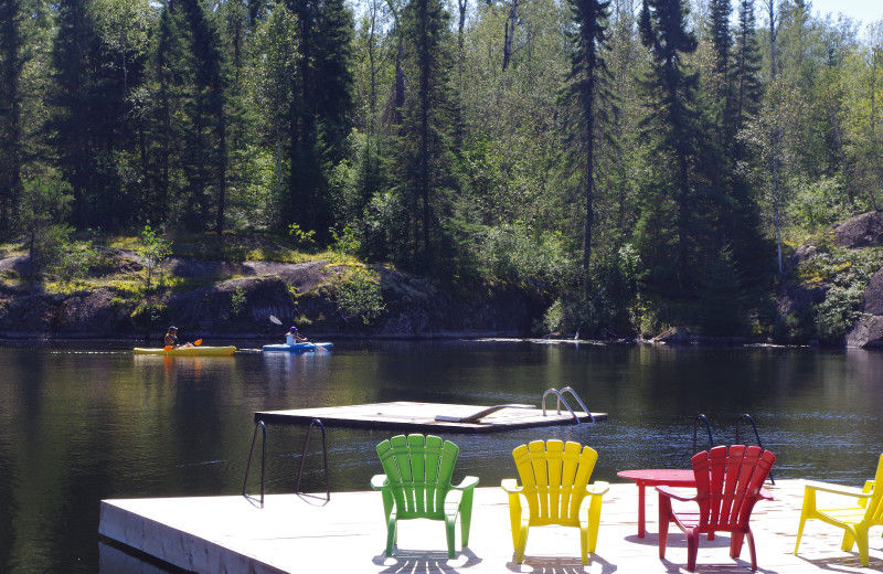 Swim area at Dogtooth Lake Resort.