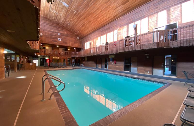 Indoor pool at Lakewoods Resort.