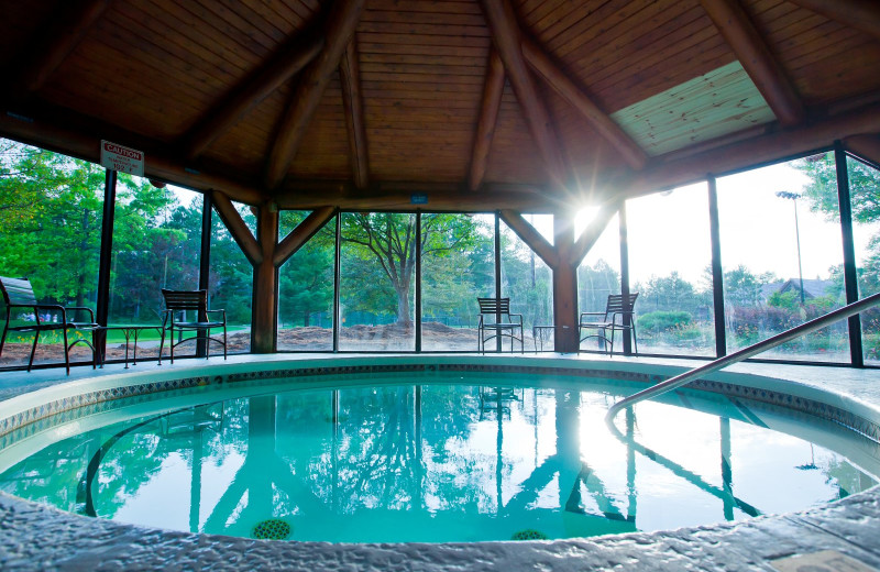 Outdoor hot tub at Garland Lodge & Resort.