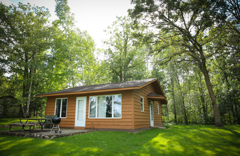 The cabins at Half Moon Trail resort are well maintained, clean, and spaced among beautiful grounds.