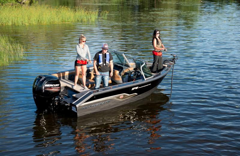 Fishing at Vine Ridge Resort.