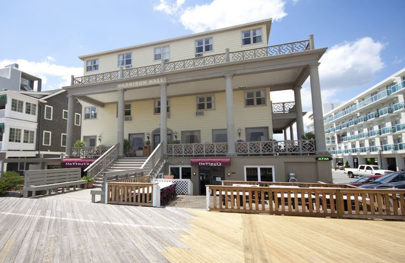Exterior view of Harrison Hall Hotel Ocean City.