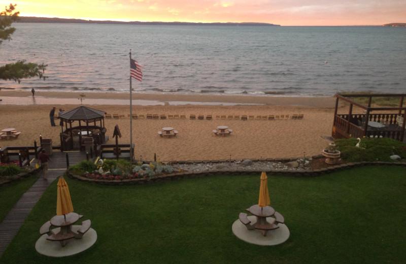 Beach at The Beach Haus Resort.