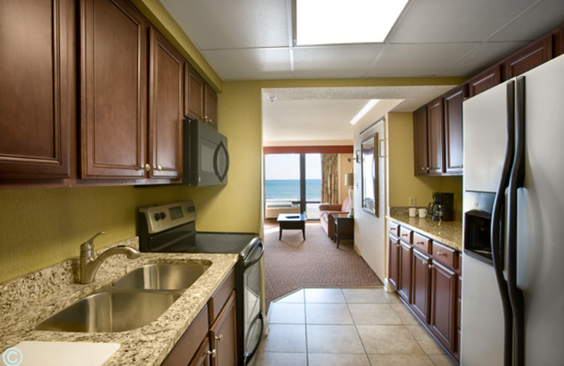 Guest kitchen at The Caravelle Golf & Family Resort.