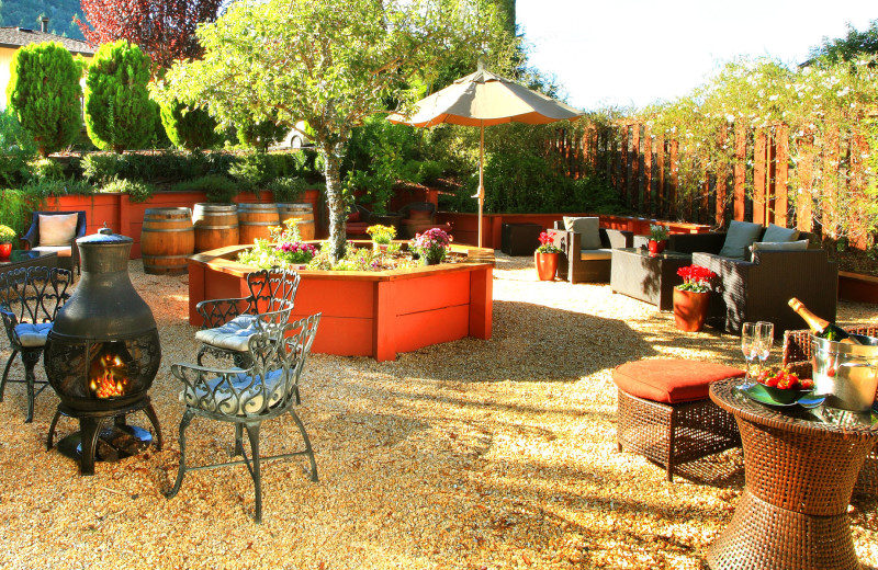 Patio at West Sonoma Inn and Spa.