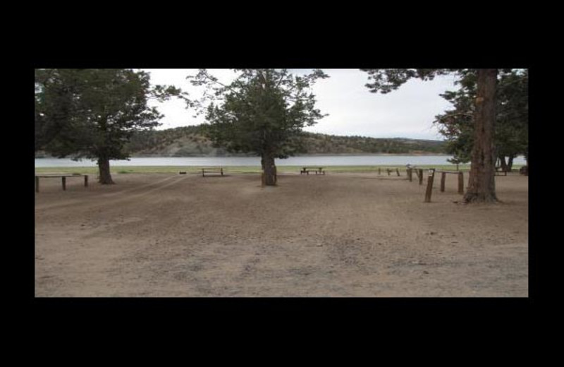 Campground at Prineville Reservoir Resort.