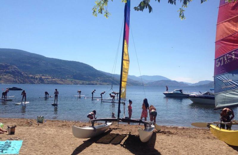 The beach at Barefoot Beach Resort.